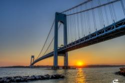 Weeksville Heritage Center New York City | Verrazano-Narrows Bridge at sunset, Brooklyn; New York City, New ...