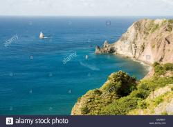 Wells Bay Leeward Islands | Caribbean, Leeward Islands, Saba - View of Wells Bay Stock Photo ...
