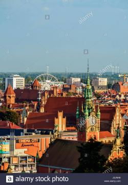 Westerplatte The Baltic Coast and Pomerania | Poland, Pomeranian Voivodeship, Gdansk, Old Town, Elevated view ...