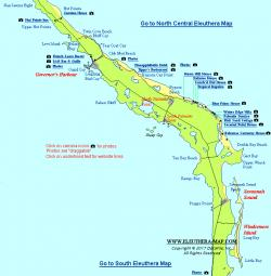 Windermere Island Eleuthera and Harbour Island | Central Eleuthera Map - Governors Harbour, North Palmetto Point ...