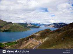Yamdrok-tso China | Yamdrok Tso Lake, 4490 metres, Tibet, China Stock Photo, Royalty ...