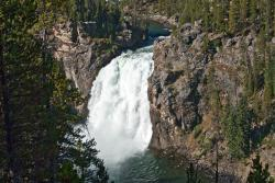 Yellowstone Alpen Guides Co. Yellowstone National Park   Yellowstone Upper Falls ArtistPoint 8324   Images By Ar