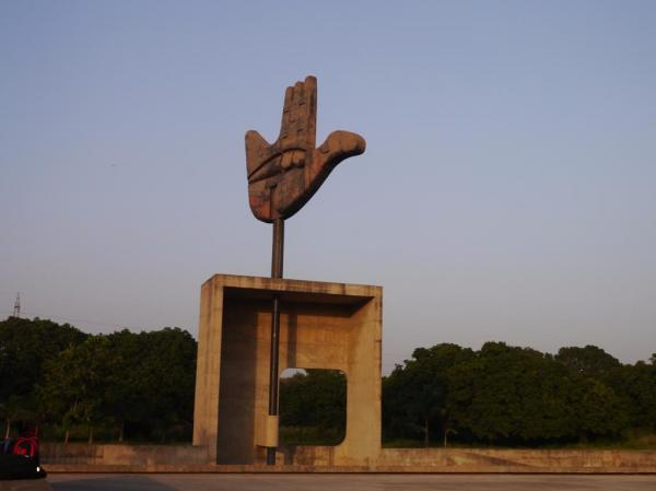 Open Hand Sculpture Chandigarh