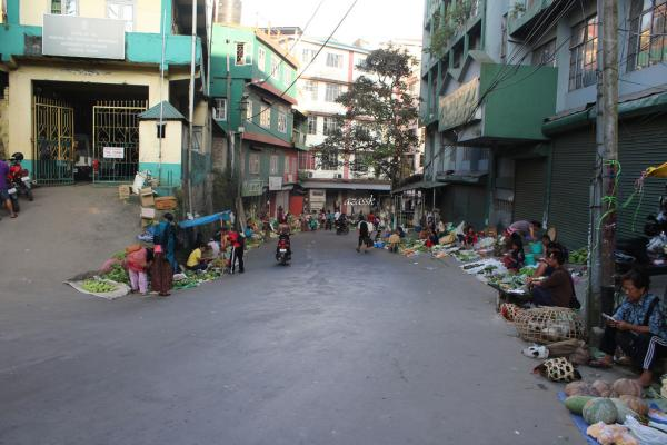 Saturday Street Market Aizawl