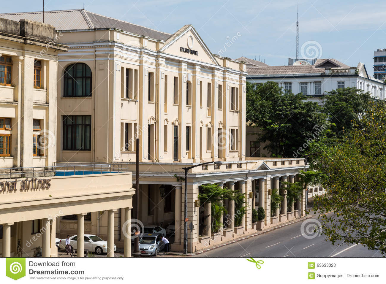 Strand Hotel Yangon The Editorial Stock Photo Image Of White View