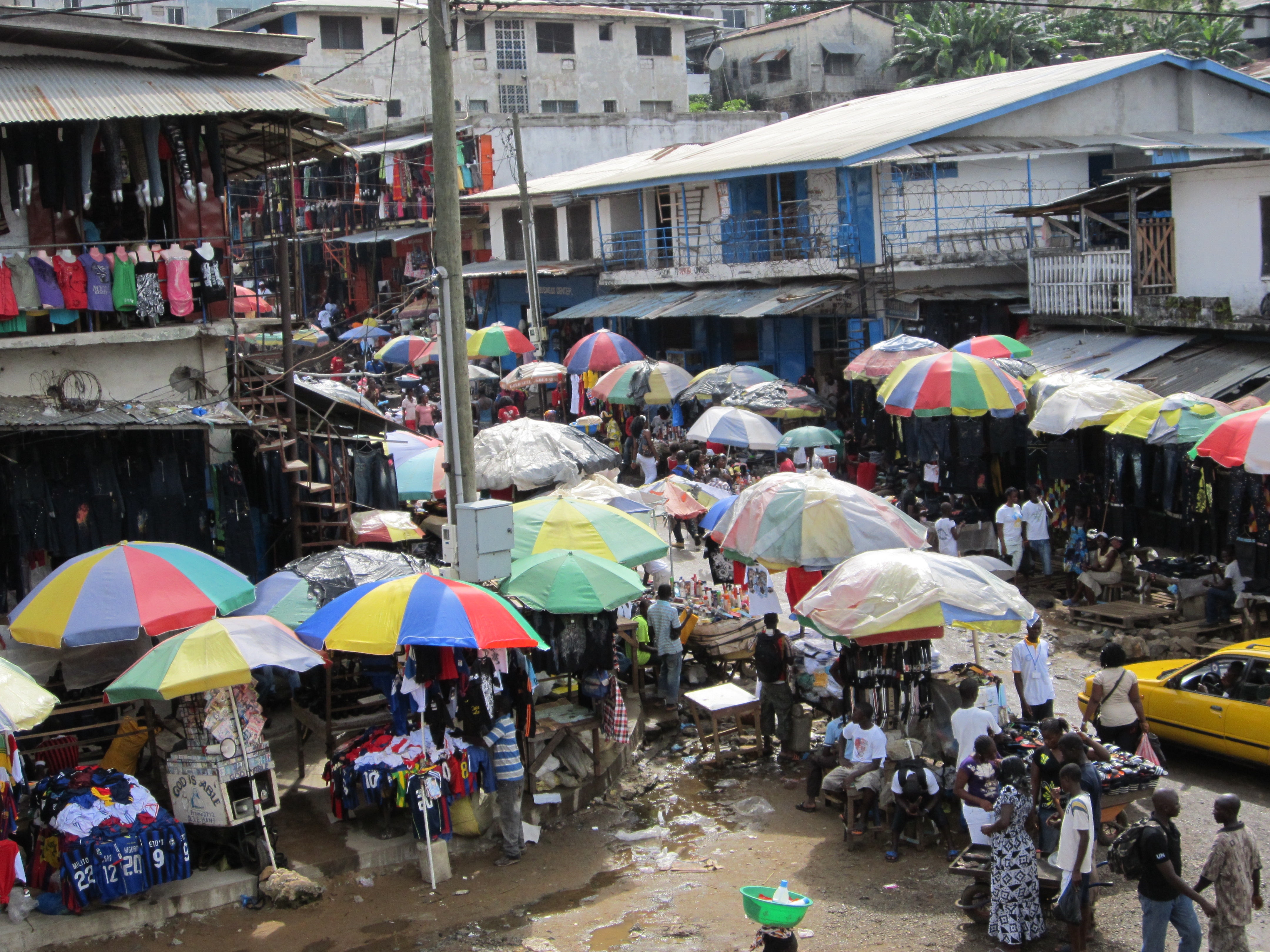 Image result for waterside market in liberia